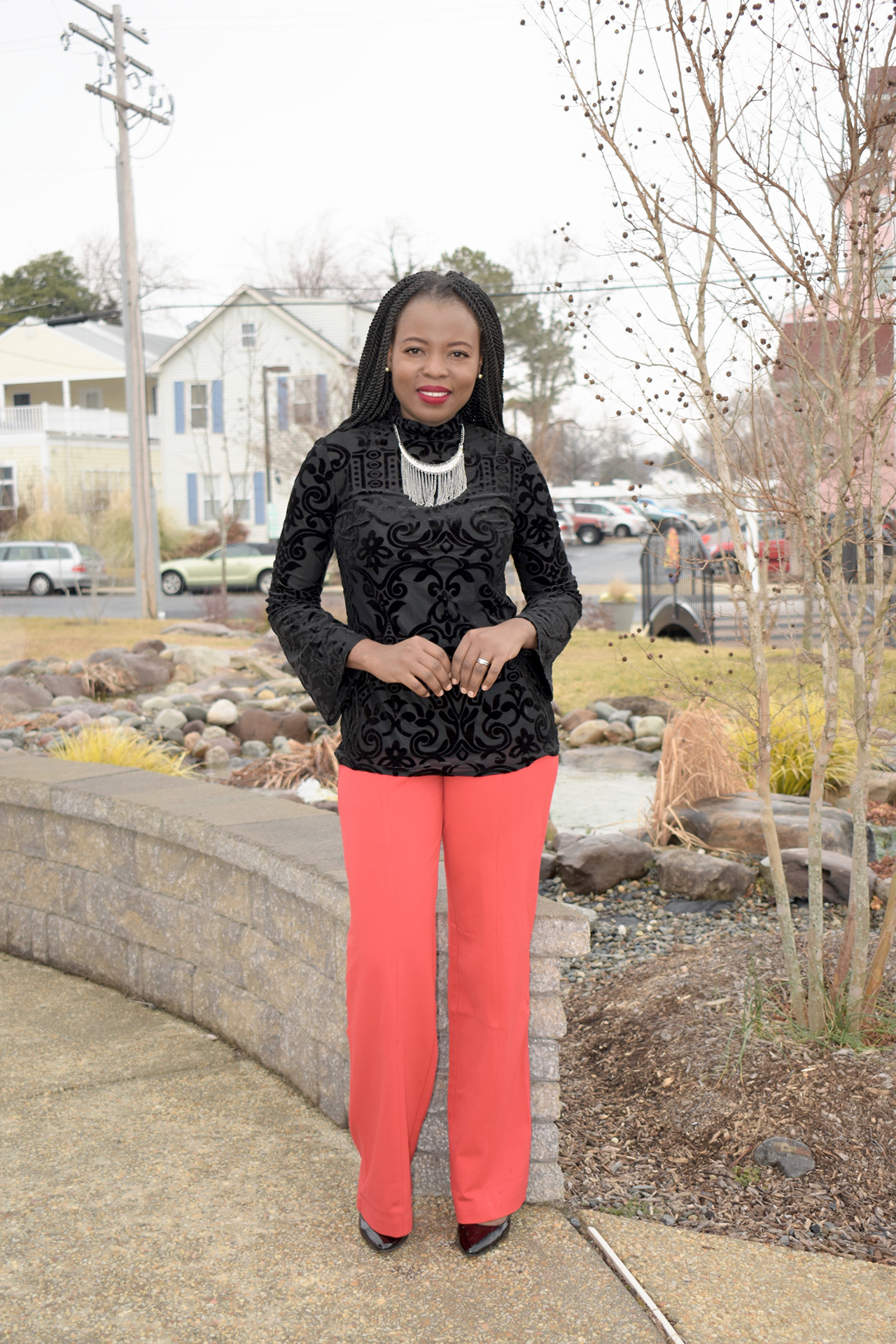 Black +red – A little inspiration for Valentine's day outfit graphic