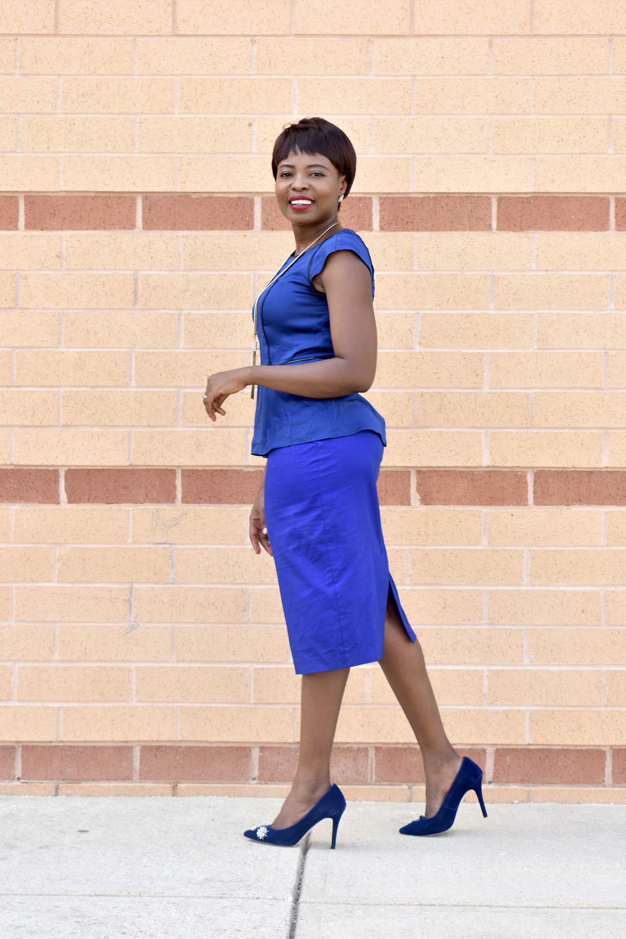 Summer office look- Cobalt blue. graphic