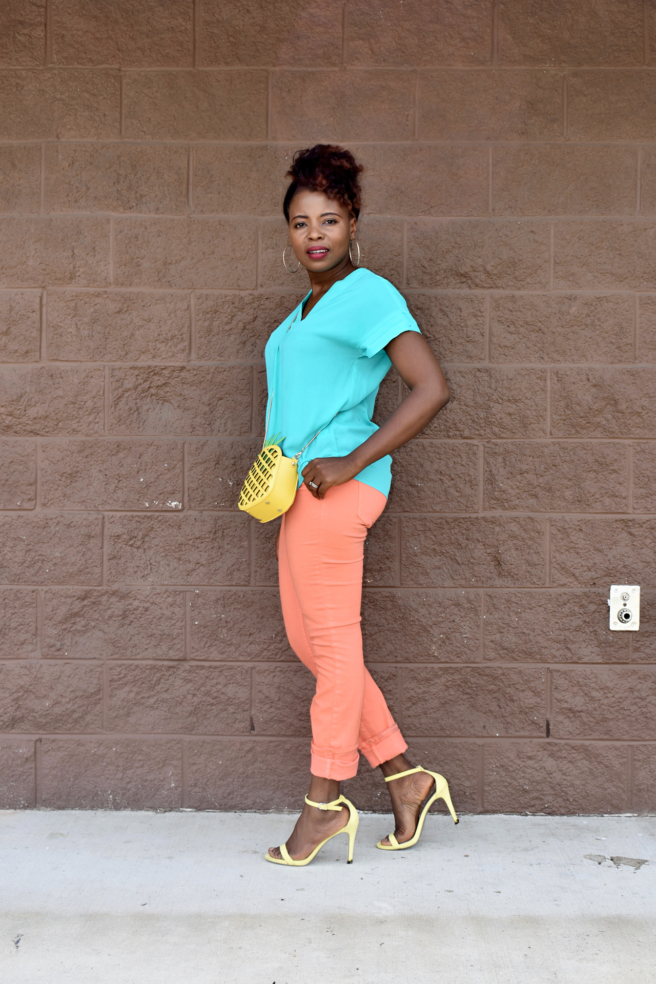 Colorful outfit for weekend wear. graphic