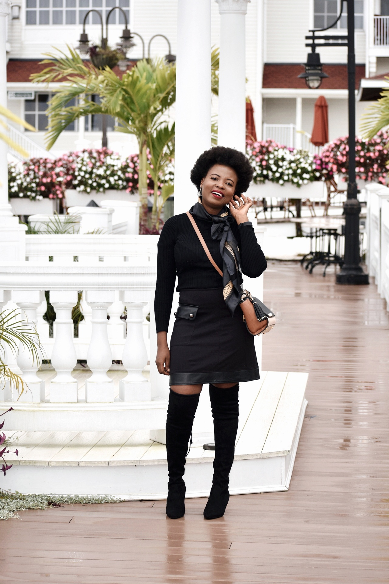 86fa0a64d2f Classy way to style thigh high boots